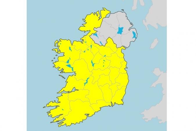 Met Éireann posarà colors als sis comtats del Nord