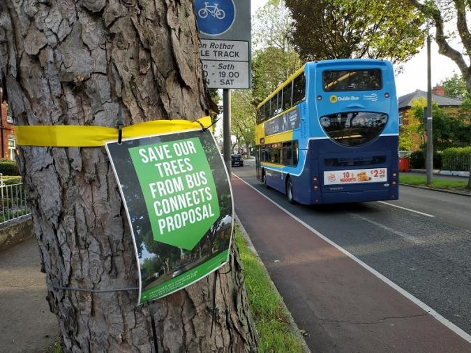 Protesta veïnal en contra del projecte BusConnects