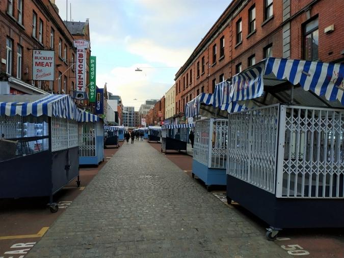 Les populars parades de Moore Street, a la corda fluixa