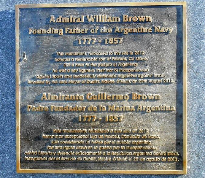 La Marina Argentina honora el seu fundador irlandès
