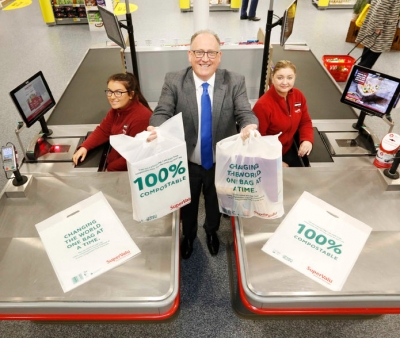 SuperValu to introduce 100% compostable reusable bags