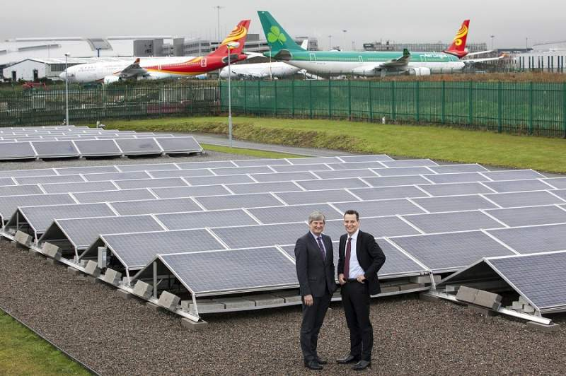Solar farm to generate power to operate the airport's reservoir